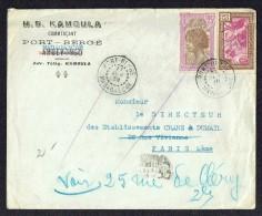 1939 Lettre   De Port-Bergé   Pour La France Yv 168, 172 - Madagascar (1889-1960)