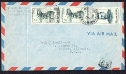 1949 Lettre Avion    De Port-Dauphin   Pour Les USA Yv 309 X2, 317 - Madagascar (1889-1960)