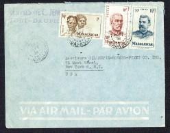 1951 Lettre Avion    De Port-Dauphin   Pour Les USA Yv 306, 315, 317 - Madagascar (1889-1960)