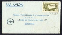 Lettre Avion Pour La France  Marque De Censure Allemande Yv PA 6 Seul - Lettres & Documents
