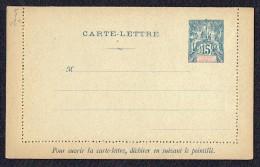Carte Lettre Groupe 15 Cent. Bleu Neuve - Entiers Postaux