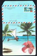 1991 Pirogue, Cocotier, Orchidée  Plié - Luftpost