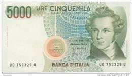 ITALY P. 111c 5000 L 1996 UNC - [ 2] 1946-… : Républic