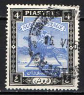 SUDAN - 1948 - CAMEL POST - SCRITTA IN ARABO SOTTO IL CAMMELLO MODIFICATA - USATO - Sudan (1954-...)