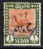 SUDAN - 1962 -CAMEL POST CON SOVRASTAMPA - OVERPRINTED - 1 £ -  USATO - Sudan (1954-...)