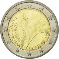 Slovénie, 2 Euro, Primoz Trubar, 2008, SPL, Bi-Metallic, KM:80 - Slovenia