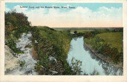 LOVERS LEAP  AND THE BOSQUE RIVER WACO TEXAS - Waco