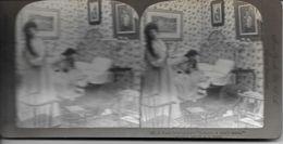 S0611 - Américan Stéréoscopic Company - Une Interruption Grossière - Un éternuement D'homme - Stereoscopio