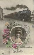 Schelle : Mijne Groten ( Groeten ) Uit  ( Geschreven 1913 Met Zegel ) - Schelle
