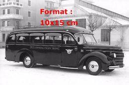 Reproduction D'une Photographie D'un Bus Alfa Romeo 350A C.I.T Compagnia Italiana Turismo En 1937 - Repro's