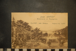 CP, 45, JEAN GRAEF ARCHITECTE ET PAYSAGISTE, Carte Double Volets Détachés  OLIVET PRES D'ORLEANS - Other Municipalities