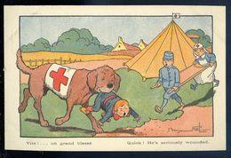 Cpa Illustrateur Benjamin Rabier -- Vite ! ... Un Grand Blessé NCL96 - Rabier, B.