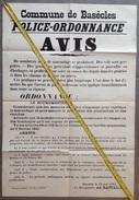 PAD. 187. Commune De Basècles 1941. Affiche, D'Ordonnace De Police Et Avis Sur Les Vols Et Maraudages - Documentos
