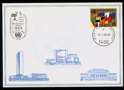 Vereinte Nationen Wien UN VN 1980 - Weiße Karte: Briefmarkenmesse Essen - Sonstige - Europa