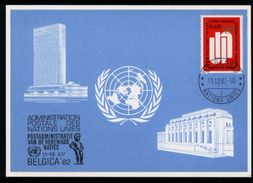 Vereinte Nationen Genf Geneve UN VN 1982 - Blaue Karte: Belgica 82 - Europe (Other)