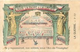 CARTE ENVOYEE D'AUCH EN 1914 POUR LA PATRIE ET LA LIBERTE - Guerre 1914-18
