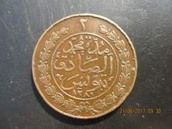 TUNISIE 2 Kharub Abdul Mejid An 1281 1864 TTB - Tunesië