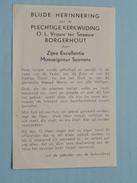 Herinnering Plechtige Kerkwijding O.L.VROUW Ter SNEEUW Borgerhout Door Z.E. Monseigneur SUENENS 18 Nov 1954 ! - Godsdienst & Esoterisme