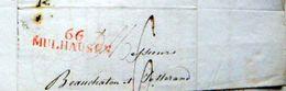 MULHOUSE MULHAUSEN  LOT  30 LETTRES COMMERCIALES  D'UN COURTIER AVEC CACHETS ROUGES MULHAUSEN 66 ANNEES 1812/1813 - Marcophilie (Lettres)