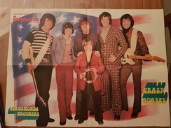 Poster Les Osmonds Brothers - Crazy Horses - Supplément Gratuit Au N°14 De Stéphanie - Manifesti & Poster