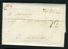 ITALIE  NAPLE : BELLE  LETTRE  DE  NAPLE  POUR  MARSEILLE  DU  8  AVRIL  1780   , A  VOIR . - Affrancature Meccaniche Rosse (EMA)