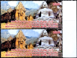 RELIGIONS-BUDDHISM-DIPLOMATIC RELATIONS BETWEEN LAOS & CHINA-PAIR-LAOS--2006-MNH-H1-364 - Buddhism