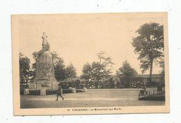 Cp , 94 ,  VINCENNES ,le Monument Aux Morts ,militaria , Vierge , Ed : Lévy Michel - Vincennes