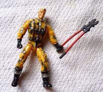 ANCIENNE Figurine GIJoe LGT 96HB Vintage BON ETAT Avec Pince  ARME NON D'ORIGINE  MANQUE DE PEINTURE  POUCE OK - GIJoe