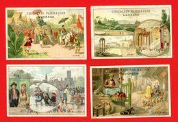 Lot De 4 Chromos Lith. Vieillemard, Tour Du Monde, Amsterdam, Rome, Alexandrie, Hanoï - Other