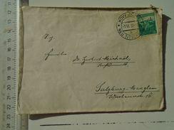 D151239 Ceskoslovakia  Czechoslovakia -Cover  NOVY JICIN  NEU -TITSCHEIN  1938  Salzburg -Maxglan - Briefe U. Dokumente