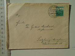 D151248  Ceskoslovakia  Czechoslovakia -Cover -  1938 Novy Jicin - Neu-Titschein  -sent To Salzburg -Maxglan - Briefe U. Dokumente