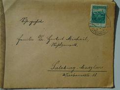 D151251  Ceskoslovakia  Czechoslovakia -Cover -  1938 Novy Jicin - Neu-Titschein  -sent To Salzburg -Maxglan - Briefe U. Dokumente