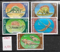 Préhistoire Dinosaure Ptérosaure - Bulgarie N°3314 à 3318 1990 O - Prehistorics