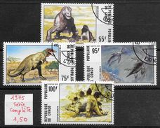 Préhistoire Dinosaure - Congo N°401 à 404 1975 O - Préhistoriques