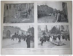 1905  GREVES Les émeutes De LIMOGES     Route D Aixe  Prison  Jardin D Orsay - Vieux Papiers