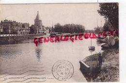 33 - LIBOURNE - LES BORDS DE L' ISLE  QUAI SOUCHET  - CARTE PUBLICITAIRE SABY FRERES - Libourne