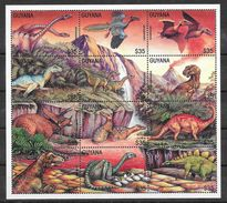Préhistoire Crétacé Dinosaure Ptérosaure Tyrannosaure - Guyana N°4001 à 4012 1995 ** - Prehistorics