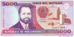 MOZAMBIQUE 5000 METICAIS 1991 P-136 UNC [MZ221a] - Mozambique