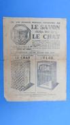 """Publicité Pour Le Savon Le Chat, Les Grandes Marques Françaises, Avec Une Histoire Au Dos : """" Les Deux Voyageurs """" - Advertising"""