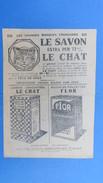 """Publicité, Le Savon Le Chat, Les Grandes Marques Françaises, Avec Une Histoire Au Dos : """" Mieux Vaut Tenir Que Courir """" - Advertising"""
