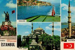 Istanbul VE Guzellikleri : Harbiye , Kinaliada , Fatih Camii , Süleymaniye - Turquie