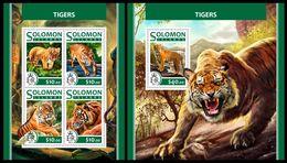 SOLOMON Isl. 2017 - Tigers. M/S + S/S - Isole Salomone (1978-...)
