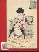 Jolie Carte ILLUSTRATEUR Guillaume ? Sager ? Femme étreinte Cochon - Illustrators & Photographers