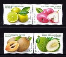 Cocos Islands 2017 Garden Fruits Set Of 4 MNH - Cocos (Keeling) Islands