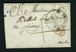 FRANCE  TROYES :   LETTRE  DE  TROYES   C A D  DU  29  AVRIL  1837 , A  VOIR . - 1849-1876: Période Classique