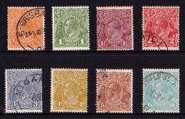 Australia 1931 - 36 King George V  C Of A Watermark Set Of 8 Used - Usados
