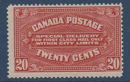 CANADA  Timbre Pour Express  N°YT E2  ** MNH  Cote 140€ - Exprès