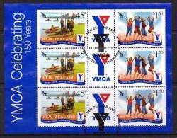 New Zealand 2005 YMCA Celebrating 150 Years Sheetlet Used - New Zealand