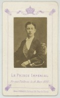 CDV Circa 1874 Henri Guérard à Paris. Le Prince Impérial. - Foto's