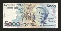 BRASIL - BANCO CENTRAL Do BRASIL - 5000 Cruzeiros / Carlos Gomes - Brasile